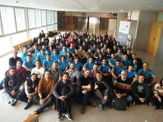 Group photo of the meeting Drupal Day Spain 2019