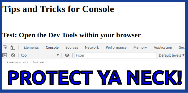 Console Style example three